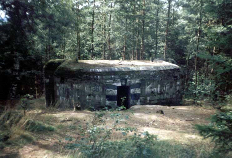 Jeden z bunkrů nad Nedamovem